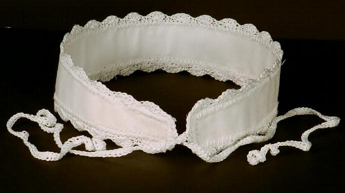 Wide White Headband with Ties