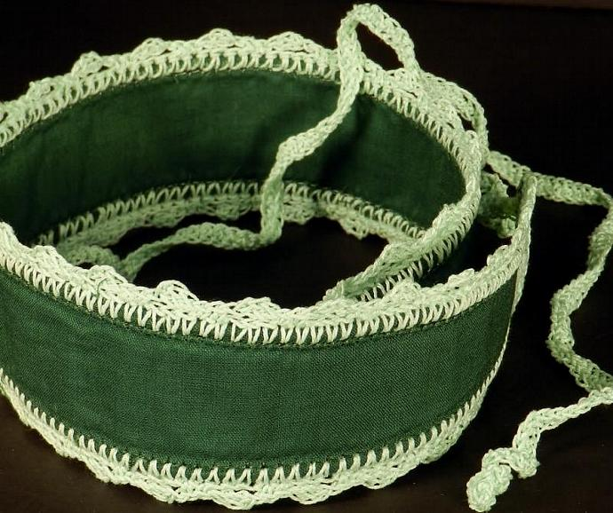 Wide Dark Green Headband