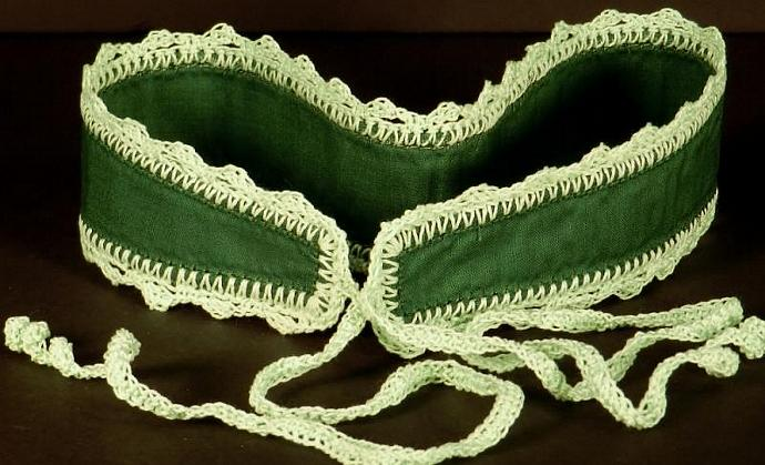 Wide Dark Green Headband