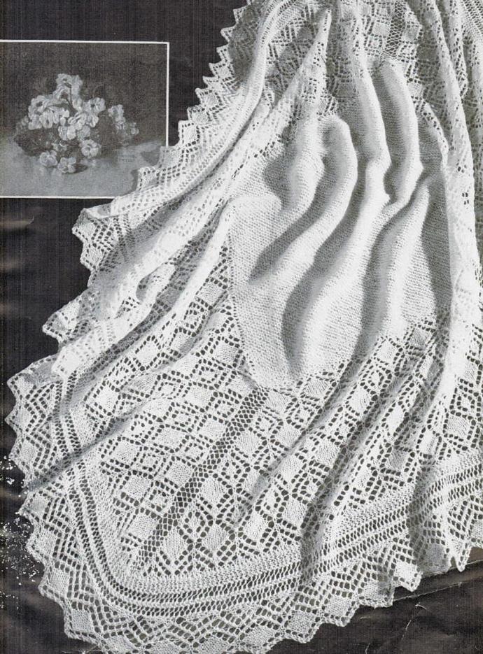 Beehive Lace Diamond Shawl Vintage Pattern PDF Digital Pattern