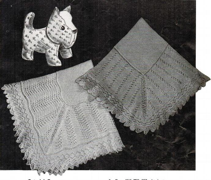 Monarch Set of 2 Baby Shawl Patterns Cute 'n' Cozy PDF Digital baby knitting