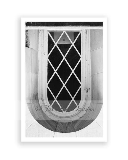 Letter U - Alphabet Photography Individual 4x6 Black and White Photo for Name