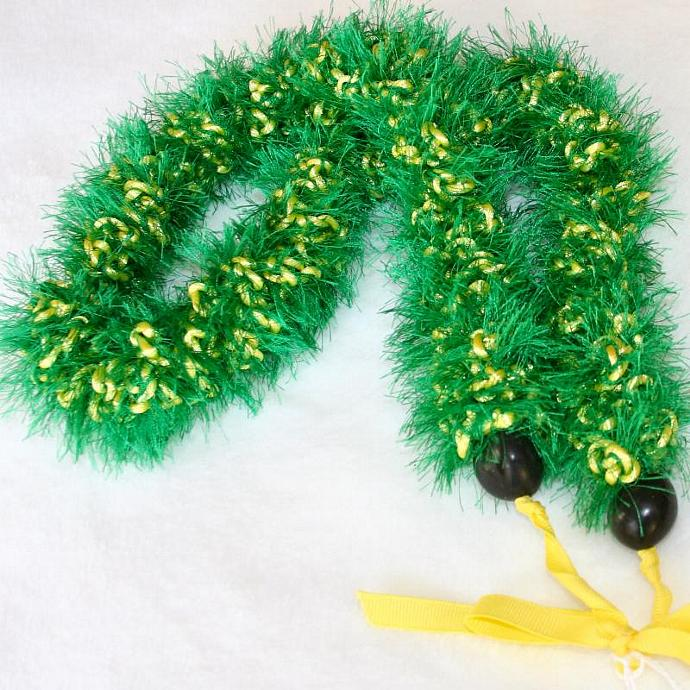 John Deere Green & Yellow Crochet Hawaiian Lei