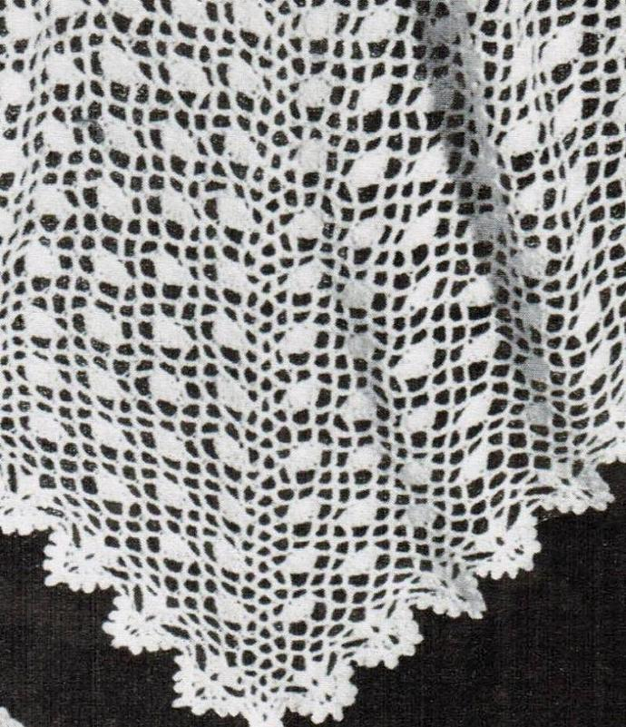 Crochet Triangular Head Shawl Vintage Pattern PDF Digital Pattern