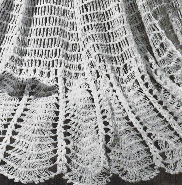 Beehive Large Circular Shawl Vintage Pattern PDF digital pattern