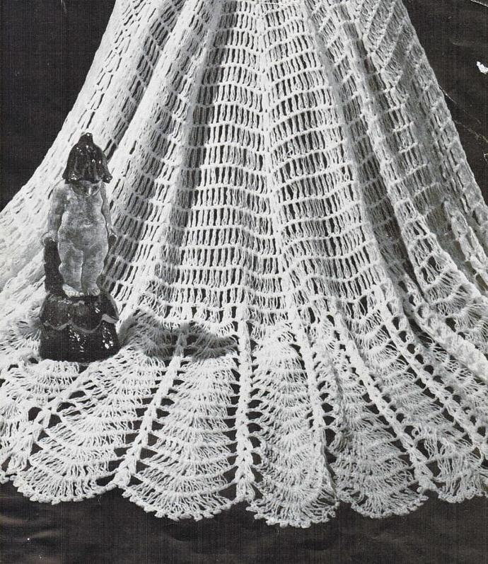 Beehive Large Circular Shawl Vintage Pattern PDF digital pattern