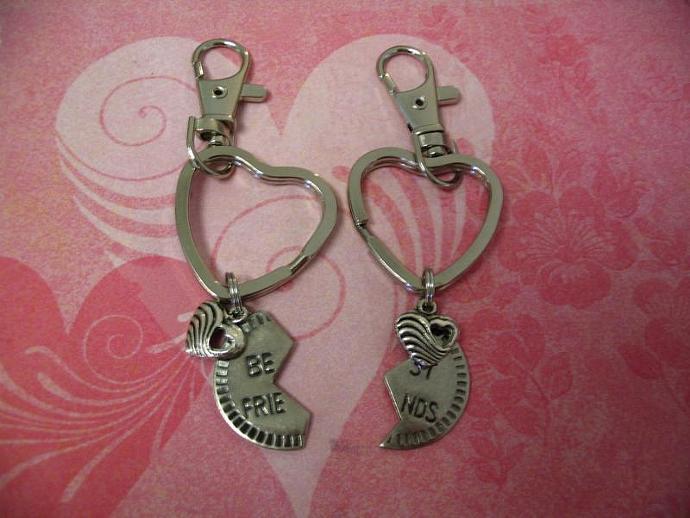 Key Chains Purse Charm for Best Friends Couples
