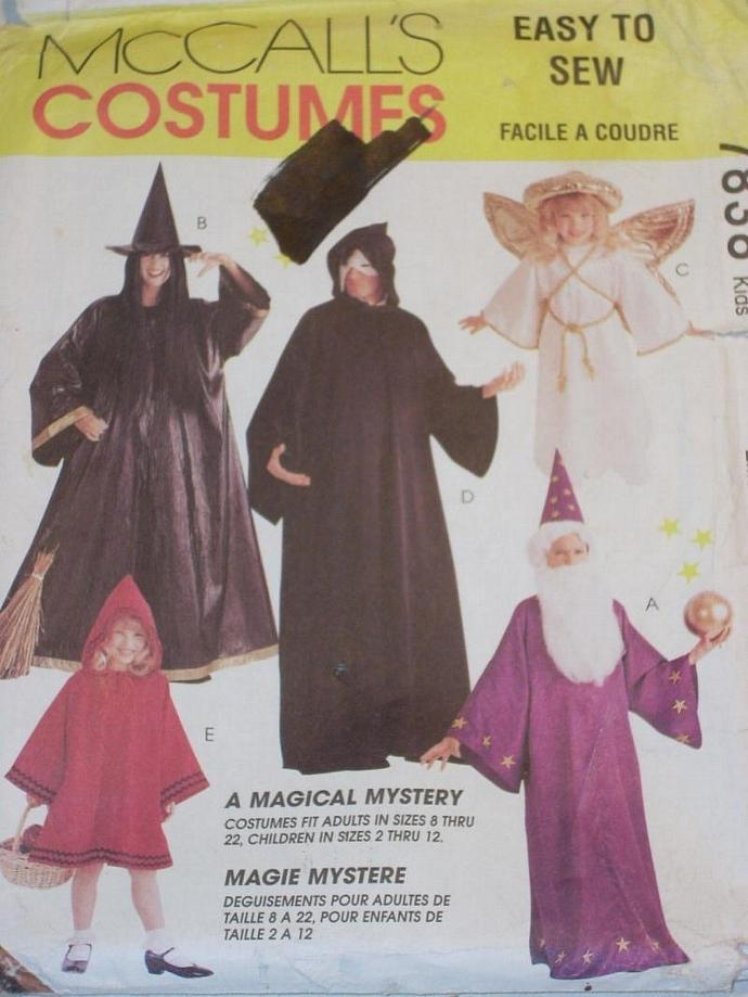 McCall\'s Pattern 7838 Halloween Costumes KID by LilacSeagull on