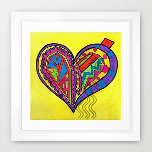 Teens wall art, Kids room Fine Art Print, Yellow | ArtbyAFox