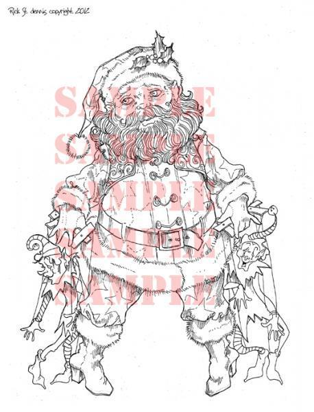 Puppetier Santa digi stamp