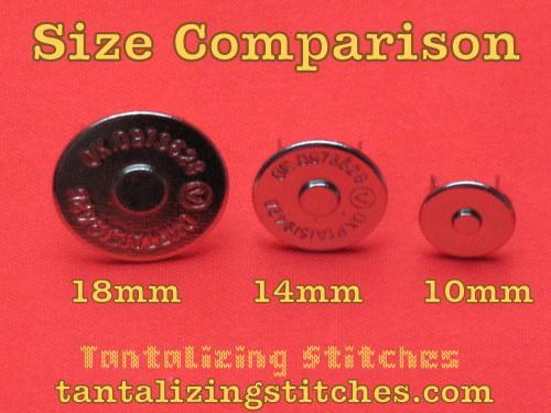 40 Sets 18mm Nickel Finish Extra Thin Magnetic Snaps - 2mm thin