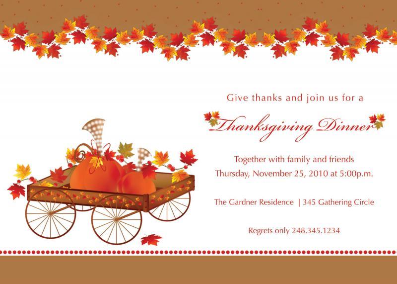Printable Thanksgiving Splendor Invitation Tamilyngardner