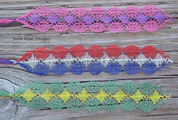 Custom Order - Actual Bobbin Lace Bookmarks for Weddings Favors, Memorial,