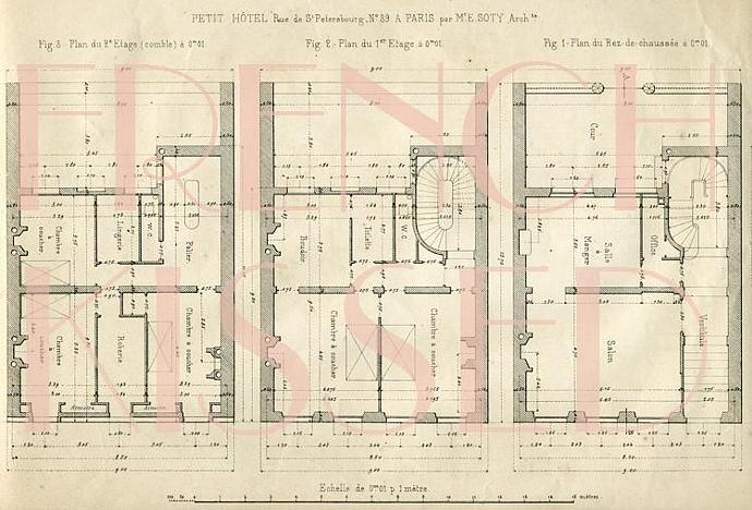 Digital scan blueprint paris hotel 1877 by frenchkissed on zibbet digital scan blueprint paris hotel 1877 french antique architecture wall decor malvernweather Image collections