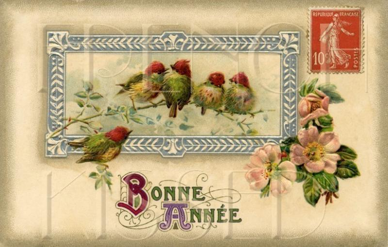 happy new year spring birds antique french by frenchkissed on zibbet