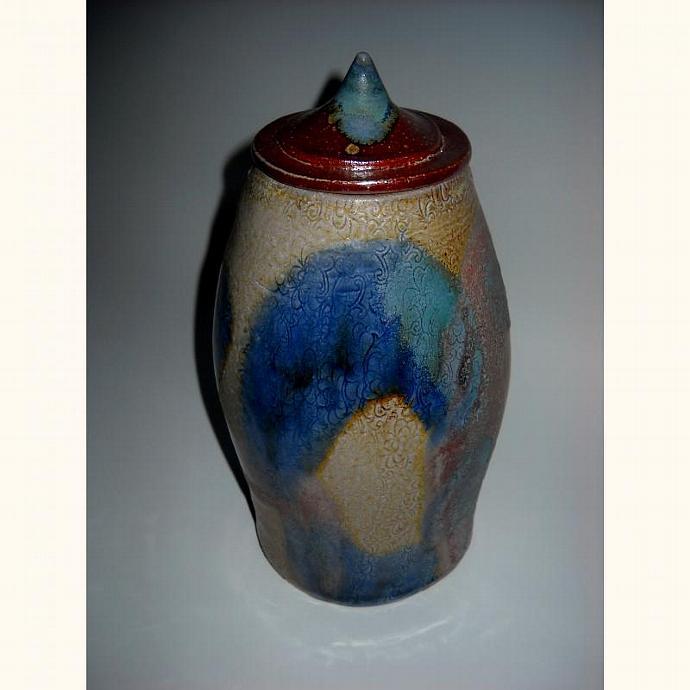 Stoneware Salt Fired Ginger Jar