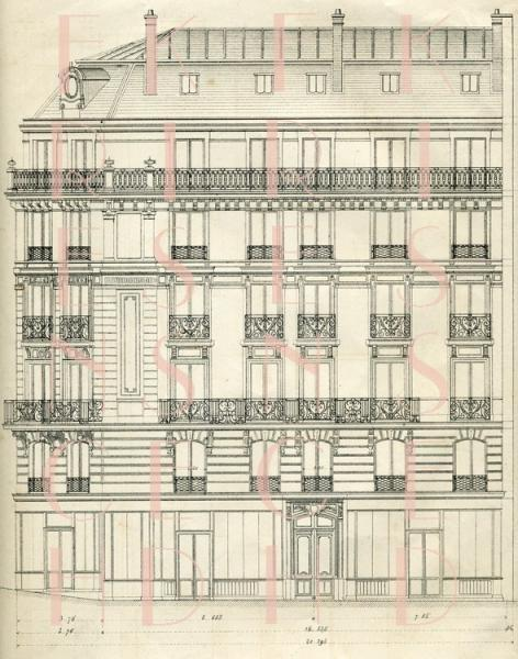 Digital scan blueprint paris architecture by frenchkissed on zibbet digital scan blueprint paris architecture 1880 house windows art nouveau iron malvernweather Image collections