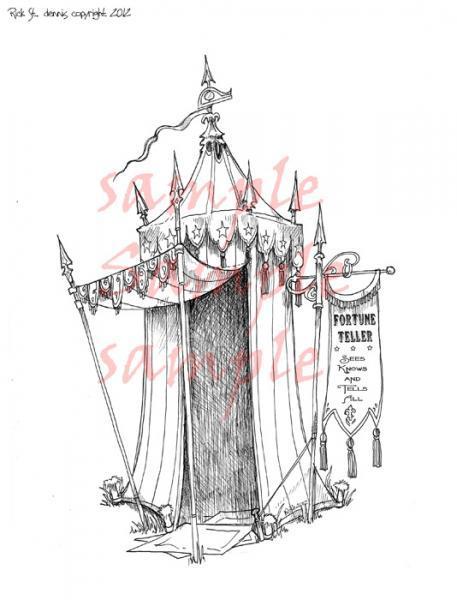 Fortune Teller Tent 2012 Scene Digi