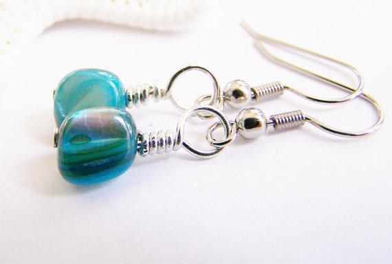 Baltic Sea - Petite Mother of Pearl Earrings