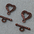 Antiqued Copper Heart Toggle Clasp