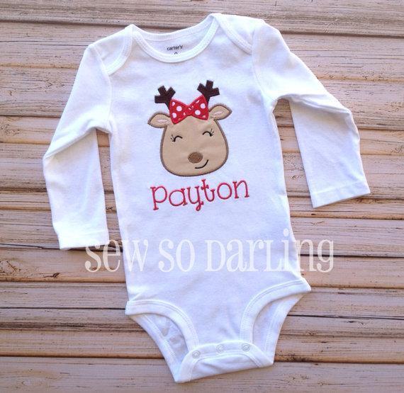 christmas baby girl outfit reindeer baby christmas outfit toddler christmas