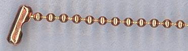 """20"""" Copper Bead Ball Necklace - Perfect for Dog Tag Pendant"""