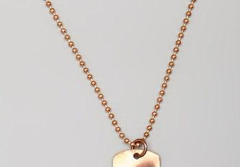 "20"" Copper Bead Ball Necklace - Perfect for Dog Tag Pendant"