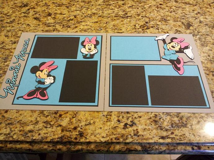 Disney Minnie Mouse 2 Page 12x12 By Didisscrapbookdesigns