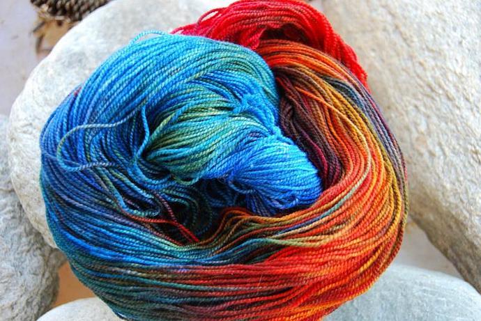 handdyed Yarn, 100g/ 3,5oz , colour hero2