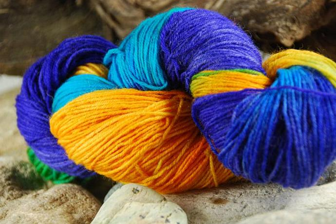 handdyed Yarn, 100g/ 3,5oz , colour 58