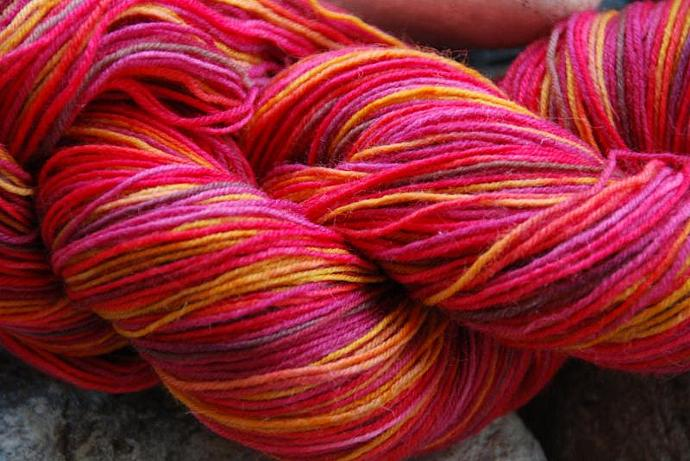 handdyed Yarn, 100g/ 3,5oz , colour 15