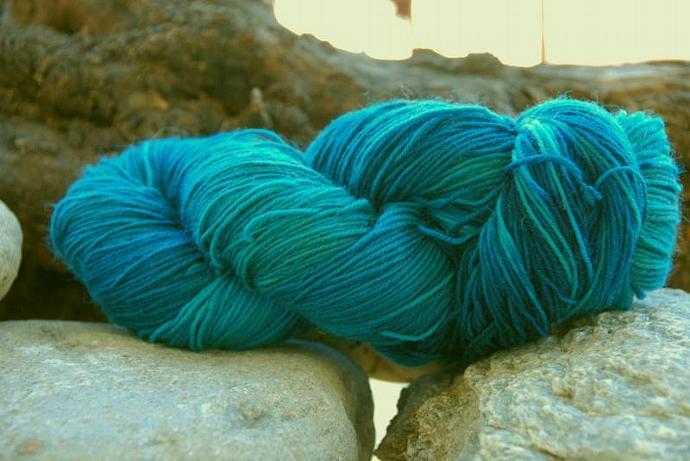 handdyed Yarn, 100g/ 3,5oz , colour 44