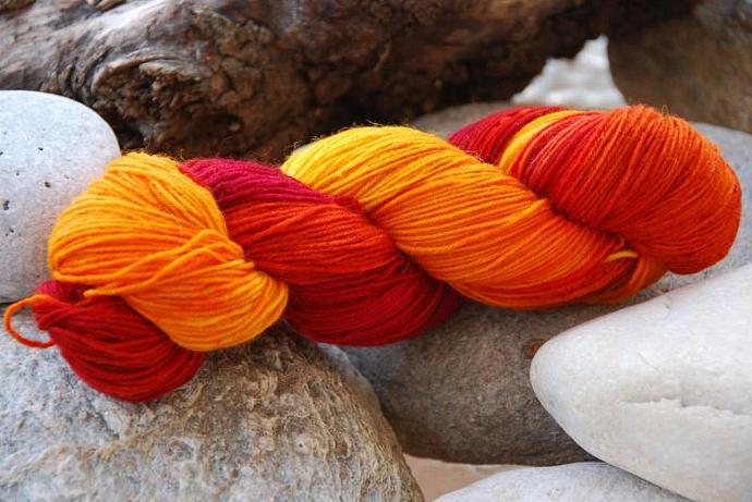 handdyed Yarn, 100g/ 3,5oz , colour 62