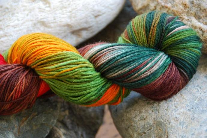 handdyed Yarn, 100g/ 3,5oz , colour 68
