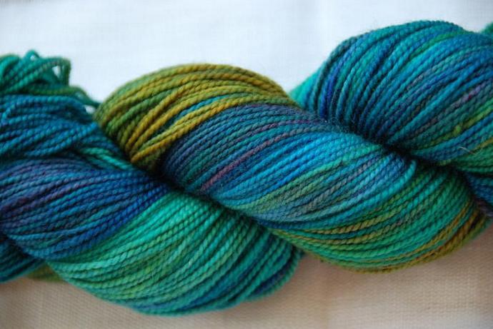 handdyed Yarn, 100g/ 3,5oz , colour wiese