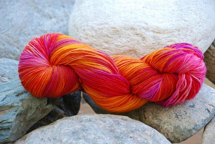 handdyed Yarn, 100g/ 3,5oz , colour 18