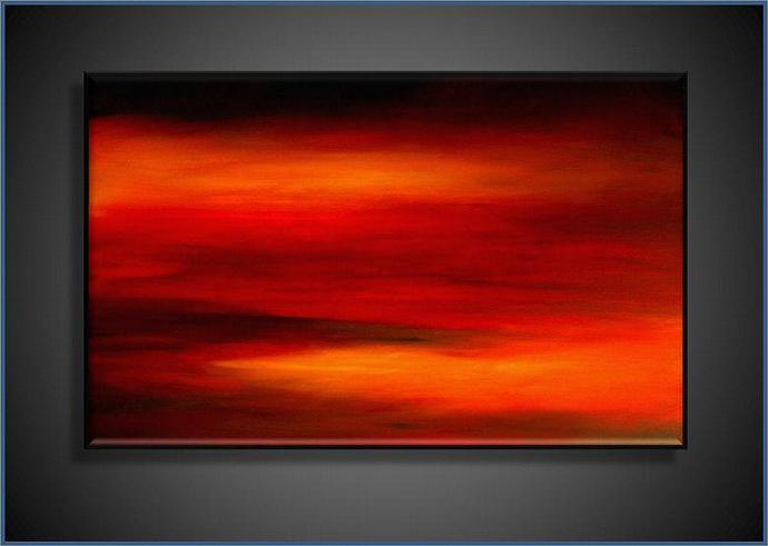 Large Original Abstract Canvas Contemporary/Modern Painting by Gina Perillo -