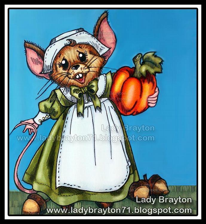 Priscilla Pilgrim Mouse digital stamp