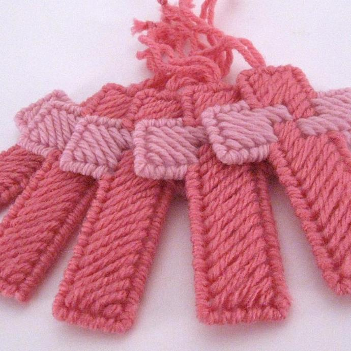 Shades of Pink Cross Ornament