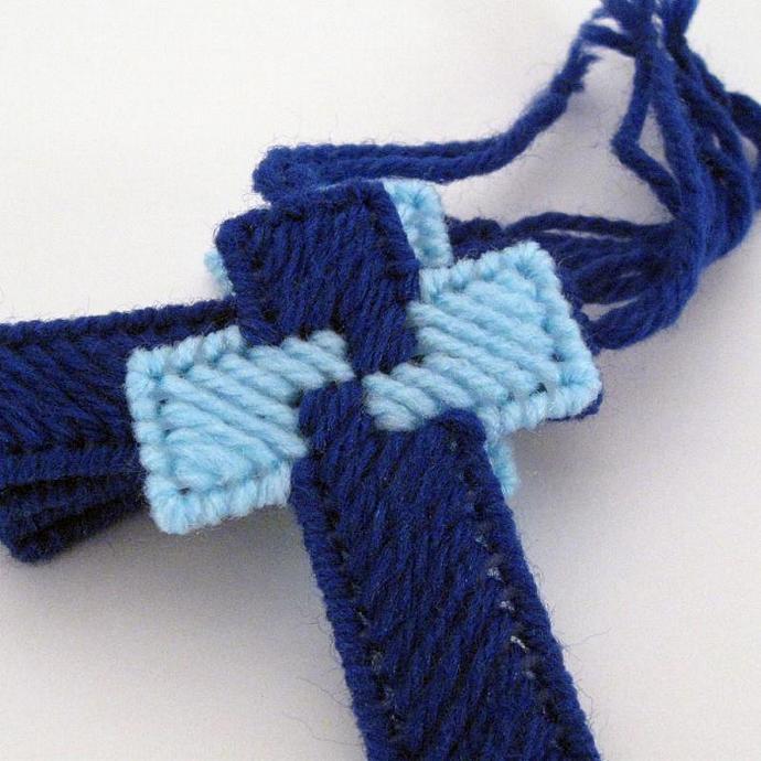 Shades of Blue Cross Ornament