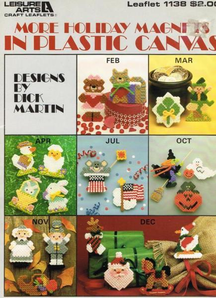 More Holiday Magnet In Plastic Canvas Pattern Book