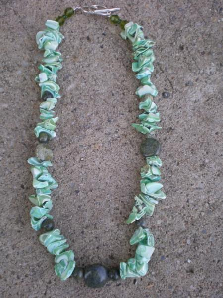 Mother  Of  Pearl Chip Necklace