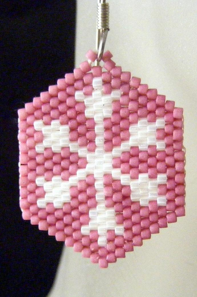 Snowflake on Rose Pink