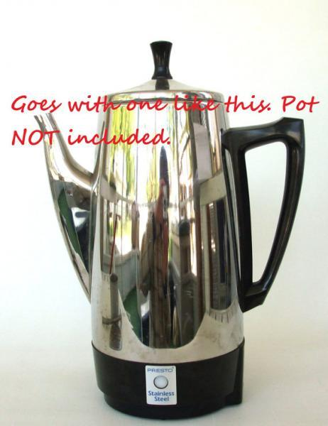 Presto Coffee Percolator Replacement Part 0281004 Lid