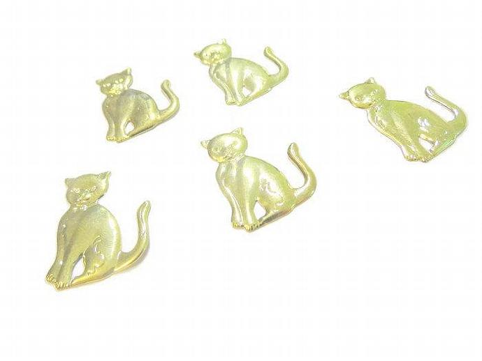 Gold Cat Charms