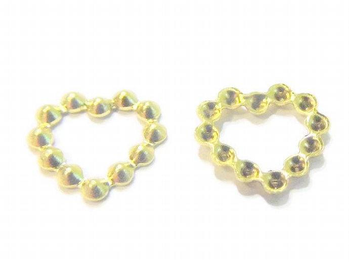 Small Gold Heart Charms