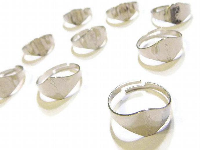 Silver Plated Love Ring Base