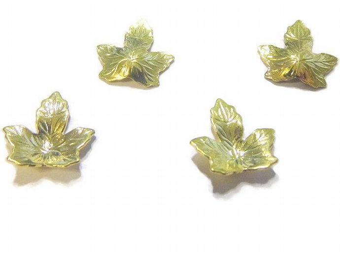 14 Gold Plated Leaf Drops
