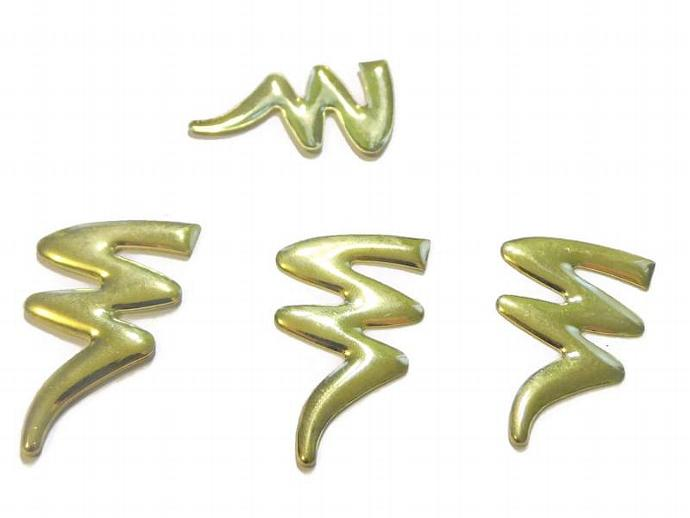 Gold Lightning Bolt Cabachon Findings Jewelry and Scrapbooking