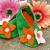 Floral Felt Booties Handmade Pink Orange Green Inf